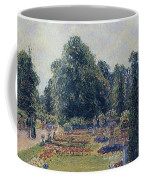 Kew Gardens - Path Between The Pond And The Palm House, 1892 Coffee Mug
