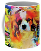 King Charles Spaniel On The Move Coffee Mug