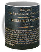 Kirkpatrick Chapel - Commemorative Plaque Coffee Mug