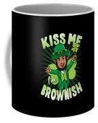 Kiss Me Im Brownish Black Leprechaun St Patricks Day Coffee Mug