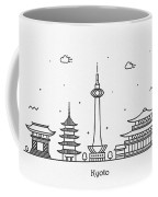Kyoto Cityscape Travel Poster Coffee Mug