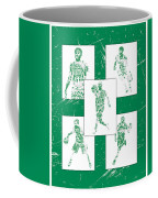 Kyrie Irving Boston Celtics Panel Pixel Art 1 Coffee Mug