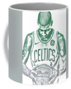 Kyrie Irving Boston Celtics Water Color Pixel Art 30 Coffee Mug