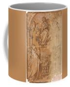 La Virgen En Gloria Apareciendose A Varios Santos  Coffee Mug