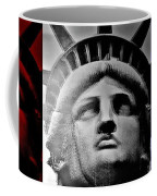 Lady Liberty Red White And Blue Coffee Mug