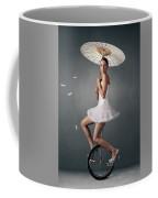 Lady On A Unicycle Coffee Mug