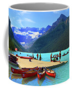 Lake Louise In Alberta Canada Coffee Mug by Ola Allen