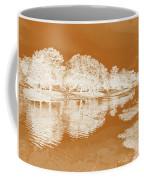 Lake Reflections In Brown Coffee Mug