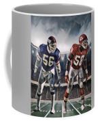 Lawrence Taylor New York Giants And Derrick Thomas Kansas City Chiefs Abstract Art 1 Coffee Mug