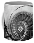 Lblack And White View Of Spiral Stairs Inside The Arch De Triump Coffee Mug