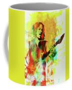 Legendary Kirk Hammett Watercolor Coffee Mug