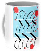 Light Blue Red  Coffee Mug