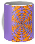 Light Violet On Blue, Yellow On Red Fractal Pattern Coffee Mug