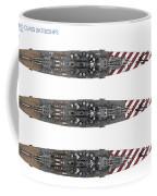 Littorio Class Battleships Top View Coffee Mug