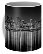 Liverpool Skyline In The Night Black And White Coffee Mug