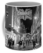 London Nightlife Carnaby Street London Uk United Kingdom Black And White Coffee Mug