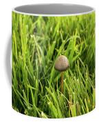 Lonely Little Mushroom Floating On The Grass Coffee Mug