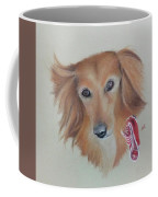 Long Haired, Miniature Dachshund Coffee Mug