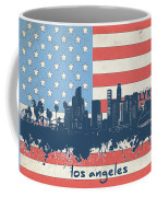 Los Angeles Skyline Flag Coffee Mug