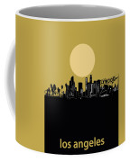Los Angeles Skyline Minimalism Yellow Coffee Mug