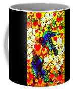 Love Birds In The Love Tree With Hibiscus Coffee Mug