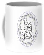 Love Never Fails' Coffee Mug by Judy Hall-Folde