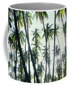 Low Angle View Of Coconut Palm Trees Coffee Mug