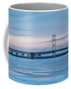 Mackinac Bridge In Ice 2161803 Coffee Mug by Rick Veldman