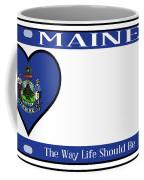 Maine State License Plate Coffee Mug