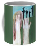 Man Imitating A Tree Coffee Mug