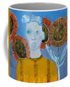 Man With Sunflowers Coffee Mug