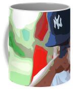 Man With Yankees Cap Coffee Mug