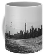 Manhatta, New Jersey And The Statue Of Liberty Coffee Mug