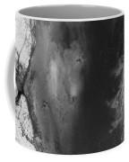 Manistee River Aerial Black And White Panorama Coffee Mug