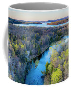 Manistee River And Hodenpyle Dam Aerial Coffee Mug