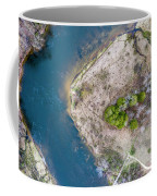 Manistee River Bend Aerial Coffee Mug