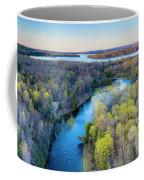 Manistee River Evening Aerial Coffee Mug