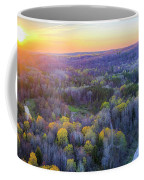 Manistee River Sunset Aerial Coffee Mug