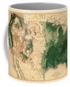 Map Of American Forests 1883 Coffee Mug