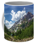 Maroon Bells And Crater Lake Panorama Coffee Mug by Andy Konieczny