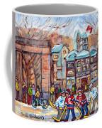 Mcgill University Roddick Gates Original Painting For Sale Hoockey Art C Spandau Canadian City Scene Coffee Mug