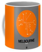 Melbourne Orange Subway Map Coffee Mug