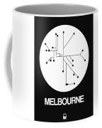 Melbourne White Subway Map Coffee Mug