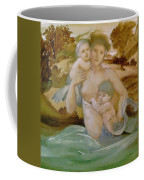 Mermaid With Her Offspring Coffee Mug