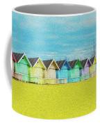 Mersea Island Beach Hut Oil Painting Look 2 Coffee Mug