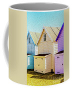 Mersea Island Beach Hut Oil Painting Look 6 Coffee Mug