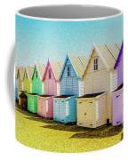 Mersea Island Beach Hut Oil Painting Look 9 Coffee Mug