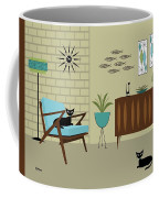 Mid Century Modern Room Coffee Mug by Donna Mibus