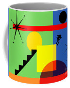 Mid Century Modern Abstract Over The Edge 20190106 Horizontal Coffee Mug
