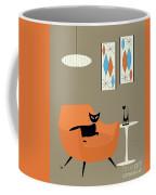 Mini Gravel Art Orange Chair Coffee Mug